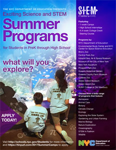 Students Can Apply Now for Exciting Science and STEM Programs during Summer Break!